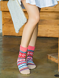 cheap -Women's Hosiery Warm Socks,Wool Multi Color 2pcs Lavender Blushing Pink