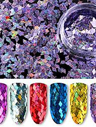 6 bouteilles paillettes / lot 6 couleurs packge diamant coloré laser paillettes holographiques 40g paillettes ultra fines