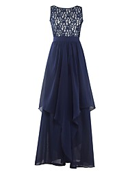 cheap -Women's Daily / Going out Active A Line / Swing Dress - Solid Colored Lace Maxi