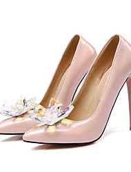 cheap -Women's Shoes Patent Leather All Season Comfort Novelty Heels Pointed Toe For Wedding Party & Evening Light Pink Pink Red Black