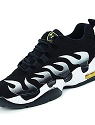 cheap -Men's Shoes Cowhide Winter Light Soles Athletic Shoes Walking Shoes for Athletic Black/White Black/Red Black/Yellow