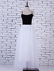 espreguiçadeiras saias moda casamento no chão-comprimento nylon chinlon casamento acessórios
