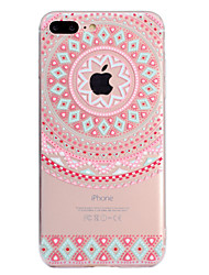 abordables -Coque Pour Apple iPhone X iPhone 8 Plus Transparente Motif Coque Mandala Flexible TPU pour iPhone X iPhone 8 Plus iPhone 8 iPhone 7 Plus