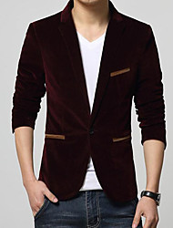 cheap -Men's Cotton Blazer - Solid Colored