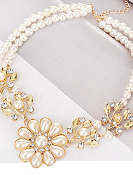 cheap -Women's Pendant Necklace - Imitation Pearl Leaf Classic, European, Fashion Gold Necklace For Daily, Formal