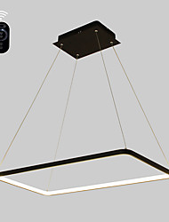 cheap -Dimmable LED50W Pendant Light  Rectangle Frame Modern/Comtemporary Black White Feature for  Living Room Dining Room With Remote Controller