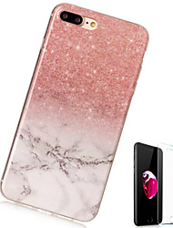 abordables -Funda Para Apple iPhone X iPhone 8 Plus Diseños Funda Trasera Mármol Suave TPU para iPhone X iPhone 8 Plus iPhone 8 iPhone 7 Plus iPhone