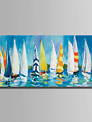 cheap -Hand-Painted Landscape Horizontal,Simple Modern One Panel Canvas Oil Painting For Home Decoration
