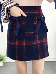 cheap -Women's Chic & Modern Mini Skirt Skirts - Color Block