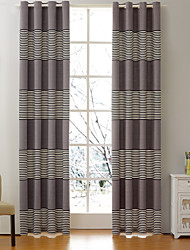 cheap -Rod Pocket Grommet Top Tab Top Double Pleat Curtain Formal Casual Modern, Jacquard Patchwork Bedroom Polyester Blend Material Curtains