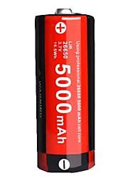 Недорогие -KLARUS LiR26650 Литий-ионная 26650 батарея 5000 mAh 1шт Портативные, Для профессионалов, Простота транспортировки для Походы / туризм / спелеология, Повседневное использование, Полиция / армия