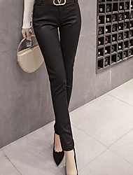 cheap -Women's High Rise Micro-elastic Skinny Business Pants,Casual Solid Fall