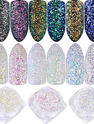 cheap -Nail Glitter Laser Holographic Shiny Glitter Powder 0.001kg/box