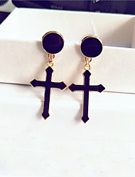 cheap -Women's Drop Earrings Hoop Earrings Simple Fashion Alloy Circle Cross Jewelry For Daily Going out