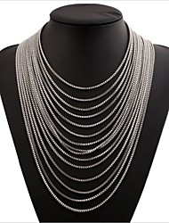 cheap -Women's Multi Layer Chain Necklace - Multi Layer Circle Necklace For Gift Daily Formal Going out Festival