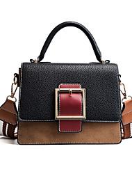 preiswerte -Damen Taschen PU Umhängetasche Knöpfe für Formal Alle Jahreszeiten Schwarz Braun Armeegrün Khaki