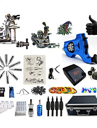 cheap -Tattoo Machine Professional Tattoo Kit 1 steel machine liner & shader 1 rotary machine liner & shader 1 alloy machine liner & shader High