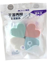 4 pçs Esponja de Pó de Arroz/Esponja de Maquiagem Heart Shape Feminino