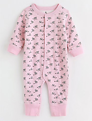 cheap -Baby Girls' Animal Long Sleeve Cotton Overall & Jumpsuit