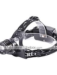 cheap -U'King Headlamps LED 1200 lm 3 Mode Cree XM-L2 Portable Durable Camping/Hiking/Caving Everyday Use Cycling/Bike Hunting Fishing Black