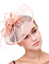 cheap -Tulle Flax Net Fascinators Flowers Headpiece 1 Wedding Party / Evening Headpiece