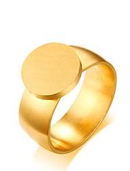 billige -mænds kvinder simple elegante titanium stål cirkel nummer smykker til bryllup aften fest