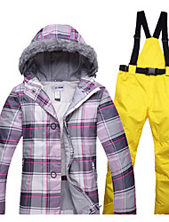 cheap -Women's Ski Jacket with Pants Warm Waterproof Windproof Wearable Breathability Ski / Snowboard Hiking Cross-Country Cotton Eco-friendly