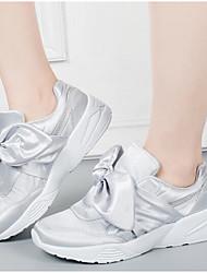 baratos -Mulheres Sapatos Malha Respirável Couro Ecológico Primavera Outono Conforto Tênis Caminhada Sem Salto Ponta Redonda Botas Curtas / Ankle