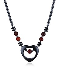 cheap -Women's Circle Vintage Pendant Necklace Onyx Iron Ore Pendant Necklace , Gift Daily