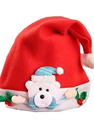 preiswerte -Urlaub Santa Anzüge Weihnachtshut Weiß Braun Rot Rosa Stoff Cosplay Accessoires Weihnachten