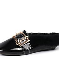 abordables -Femme Chaussures Polyuréthane Hiver Confort Sabot & Mules Bout rond Pour Décontracté Noir Beige