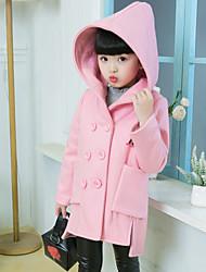 cheap -Girls' Solid Jacket & Coat