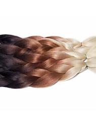 cheap -Braiding Hair Crochet Jumbo 100% kanekalon hair / Kanekalon 3 Pieces Hair Braids Ombre Long Ombre Braiding Hair