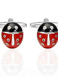 baratos -Animal Vermelho Botões de Punho Cobre Animais Carnaval Homens Jóias de fantasia