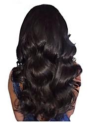 Lace Front Human Virgin Hair Natural Color Big Body Wave Lace Wig with Baby Hair