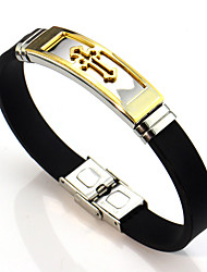 cheap -Men's / Women's Link Bracelet - Leather Cross Asian, Vintage Bracelet Gold / Silver For Wedding