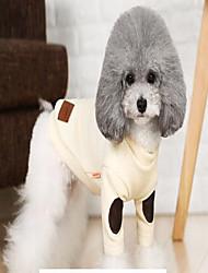 preiswerte -Katze Hund Mäntel Pullover Weihnachten Hundekleidung Beige Grau Baumwolle Kostüm Für Haustiere Lässig/Alltäglich warm halten Streifen