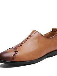 abordables -Homme Chaussures Similicuir Printemps Automne Confort Mocassins et Chaussons+D6148 Marche pour Décontracté Noir Brun claire Brun Foncé
