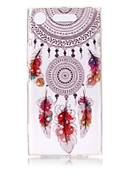 cheap -Case For Sony Xperia XZ1 / Xperia XA1 Ultra-thin / Transparent / Embossed Back Cover Dream Catcher Soft TPU for Sony Xperia XZ1 / Sony Xperia XA1 / Sony Xperia L1