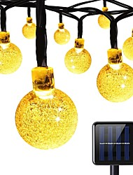 cheap -7m String Lights 100 LEDs Warm White Rechargeable <5 V 1pc / IP65