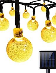 economico -luci solari della stringa 8 modalità 23ft 30leds luci della stringa della sfera di cristallo per il partito festa di estate del giardino