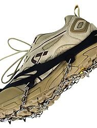 Snekæder til sko Crampon fastspændingspigge til sko Skridsikker Vand resistent Snesko Gummi silikone metal cm Stk.