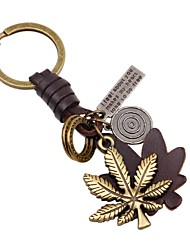 cheap -Keychain Jewelry Gold Leaf Leather Alloy Classic Korean Going out School Men's