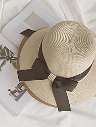 cheap -Women's Knitwear Straw Hat,Cute Party Solid Fall