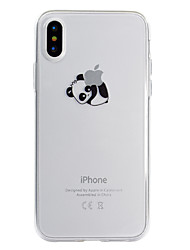 billiga -fodral Till Apple iPhone X iPhone 8 Plus Mönster Skal Leka med Apple-loggan Panda Mjukt TPU för iPhone X iPhone 8 Plus iPhone 8 iPhone 7