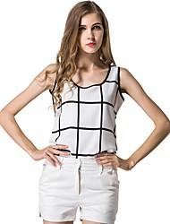 cheap -Women's Polyester Blouse - Check