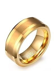 economico -Per uomo Fedine Vintage Elegant Dorato Acciaio Circolare Gioielli Per Matrimonio Feste Fidanzamento Quotidiano
