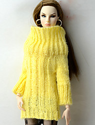 cheap -Tops Top For Barbie Doll Yellow Tops For Girl's Doll Toy
