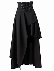 cheap -Women's Holiday Asymmetrical Skirts Solid Winter Spring