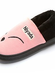 cheap -Women's Shoes Rubber Winter Comfort Slippers & Flip-Flops Round Toe for Outdoor Black Red Pink